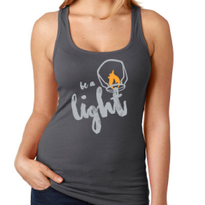 Be A Light Racerback Tank (Gray)