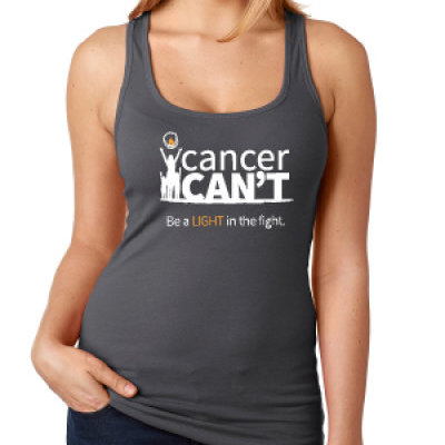 Cancer Can't Logo Racerback Tank (Gray)